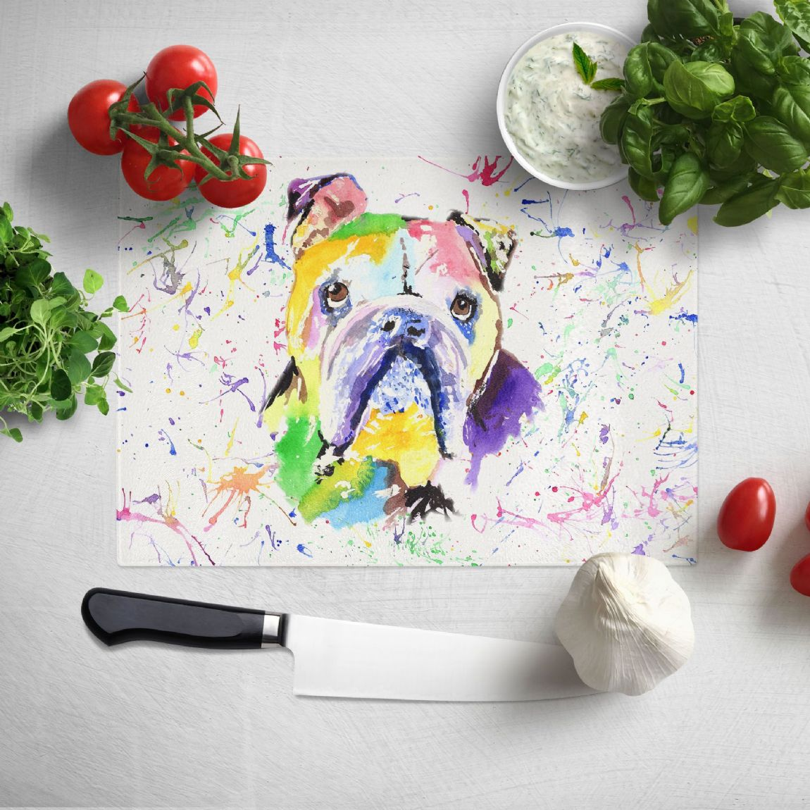 Glass worktop saver/chopping board (Bulldog )